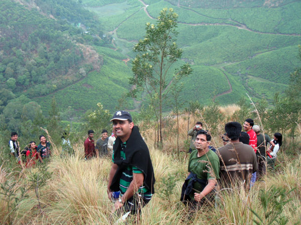 Trekking during outwardbound training at Munnar