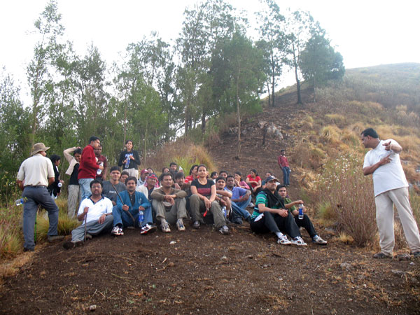 Corporate group at Munnar camp