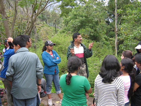 On a Nature Trail during school camp at Munnar
