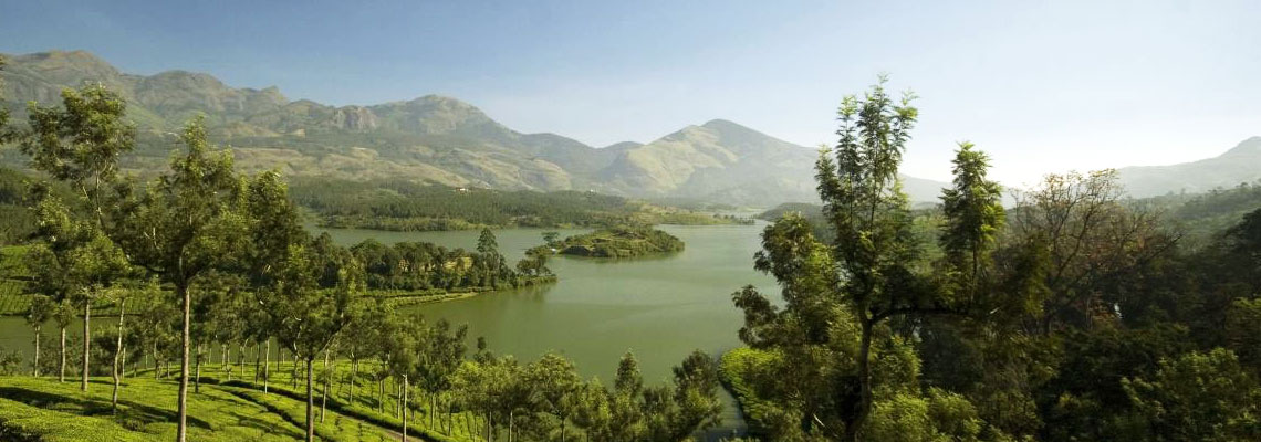 View of the  Anaerangal Lake, Munnar